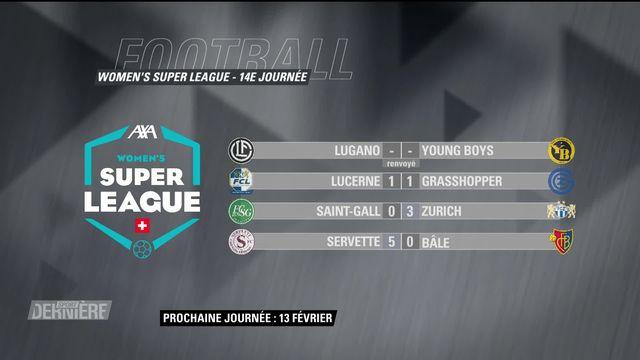 Super League féminine: résultats et classement [RTS]