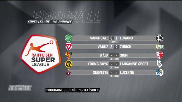 Super League, 19e journée: résultats et classement [RTS]