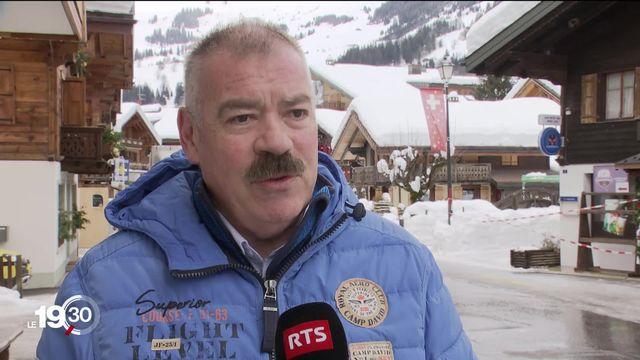 Aux Diablerets (VD) comme à La Fouly (VS), des évacuations préventives ont été ordonnées face au risque d'avalanches [RTS]