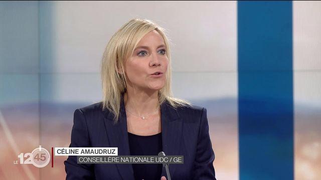 """Céline Amaudruz: """"Nous sommes plus que jamais contre toute violence faite aux femmes"""". [RTS]"""
