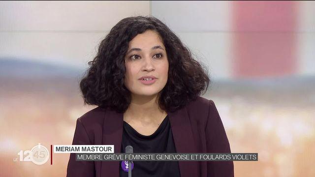 Initiative contre la dissimulation du visage: l'avis de Meriam Mastour, féministe et opposée au texte. [RTS]