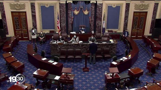 Le second procès en destitution de Donald Trump débute ce mardi au Sénat. [RTS]