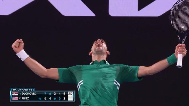 3e tour, N.Djokovic (SRB) - T.Fritz (USA) 7-6, 6-4, 3-6, 4-6, 6-2: de l'inconstance et du cinéma, mais une victoire pour « Nole » [RTS]