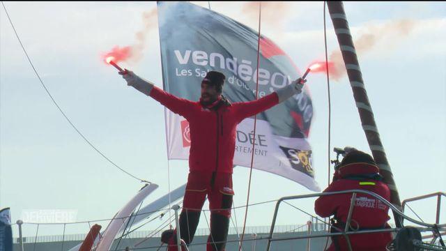 Vendée Globe: l'arrivée du genevois Alan Roura [RTS]
