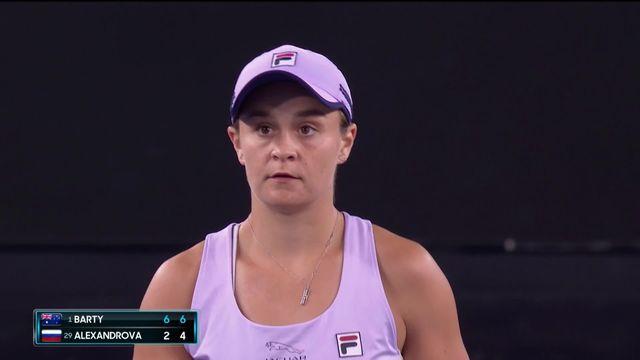 3e tour, A.Barty (AUS) - E.Alexandrova (RUS) 6-2, 6-4: Barty s'impose sans difficulté [RTS]