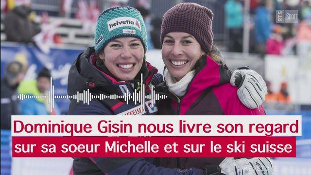 Sport Première: Dominique Gisin nous livre son regard sur sa s?ur Michelle, mais également sur Corinne Suter et Lara Gut-Behrami [RTS]