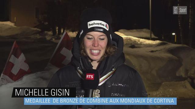 Ski - Michelle Gisin: ''Cette médaille est très importante pour moi'' [RTS]