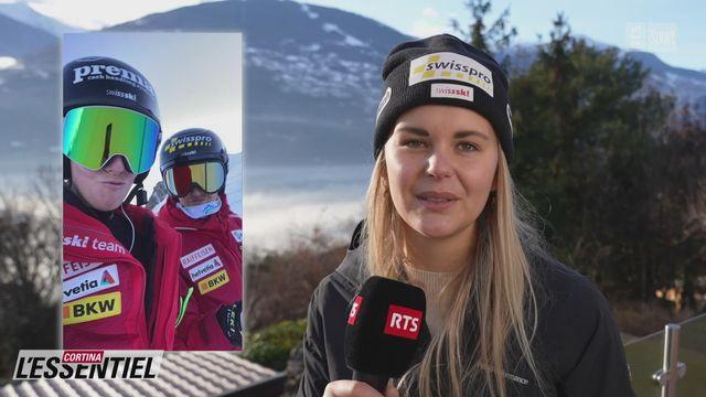 Ski - Charlotte Chable: avec Camille Rast [RTS]