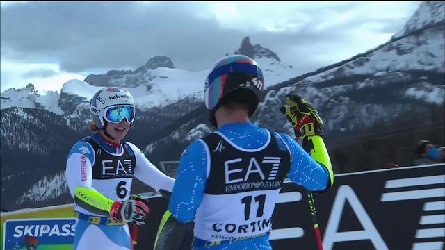 Cortina (ITA), Slalom parallèle messieurs 1-8e: Odermatt (SUI) est éliminé par De Aliprandini (ITA) pour un centième [RTS]