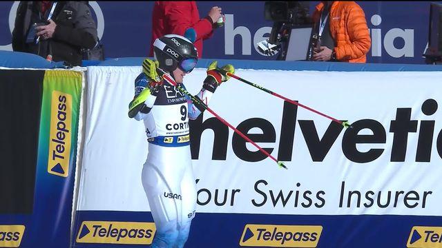 Cortina (ITA), Slalom parallèle dames 1-4: Holdener (SUI) est éliminée par Moltzan (USA) [RTS]