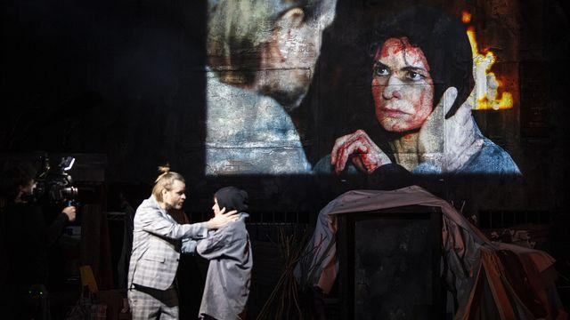 """Une photo de l'opéra """"La Clémence de Titus"""" au Grand Théâtre de Genève. [Carole Parodi - GTG]"""
