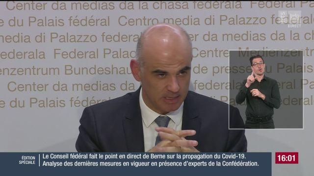 L'intervention d'Alain Berset lors de la conférence de presse du 17 février [RTS]