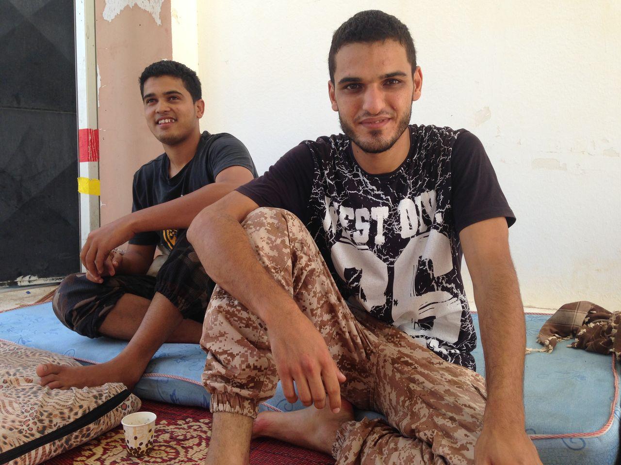 En 2016, à Syrte, les jeunes Libyens combattent le groupe Etat Islamique. [Maurine Mercier - RTS]