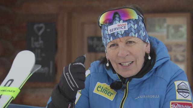 Ski - Paroles d'ex: avec Vreni Schneider, championne du monde de slalom en 1991 à Saalbach [RTS]