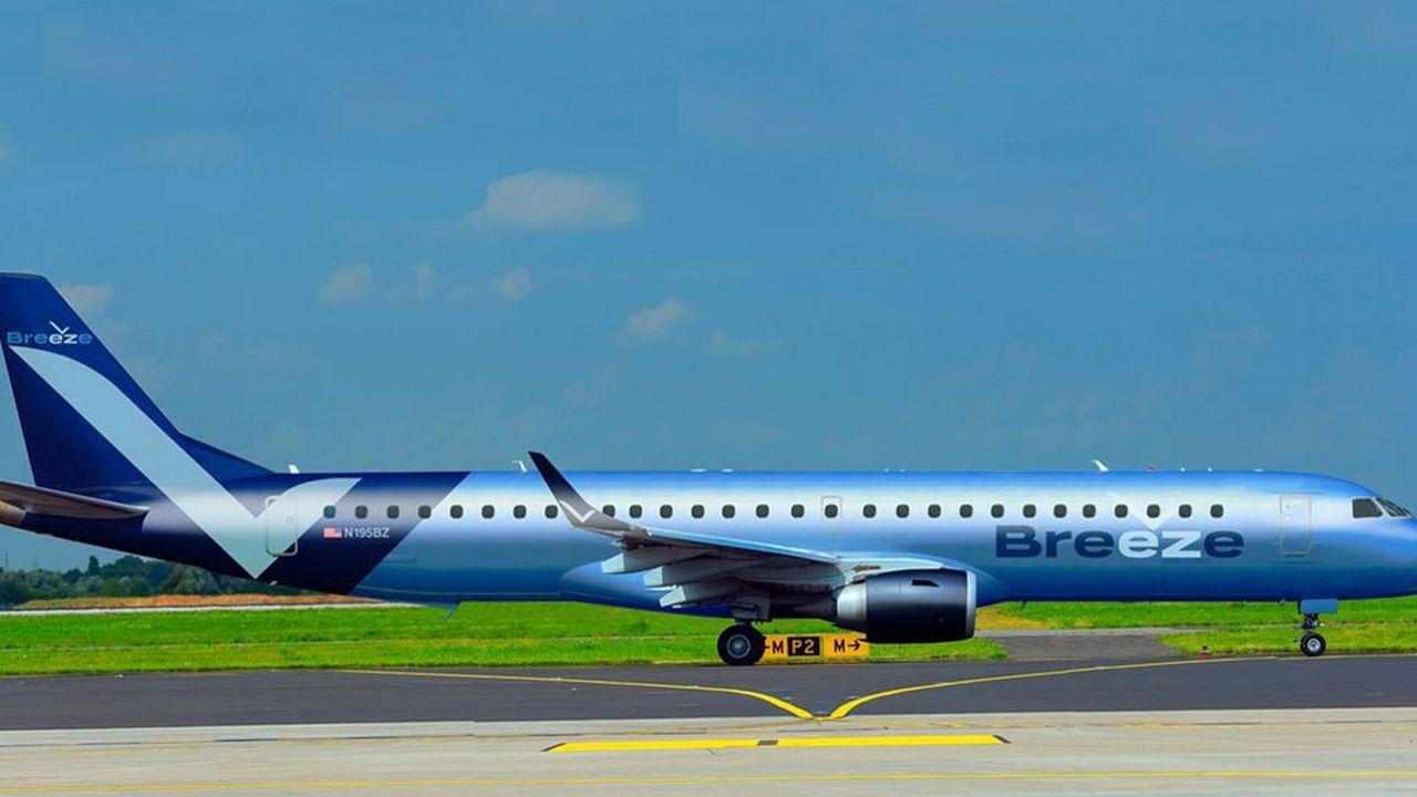 Les nouvelles compagnies comme Breeze Airways misent sur la numérisation. [Breeze/Facebook]