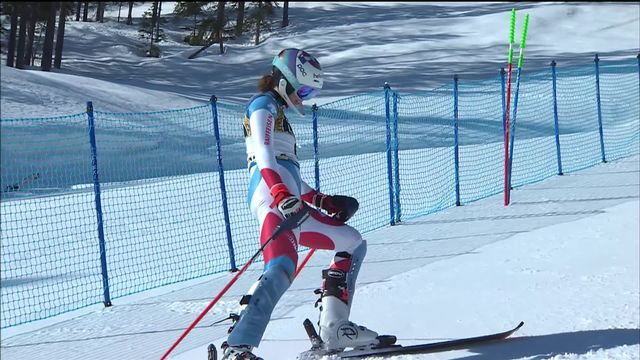Cortina (ITA), Slalom dames, 1re manche: élimination de Michelle Gisin (SUI) [RTS]