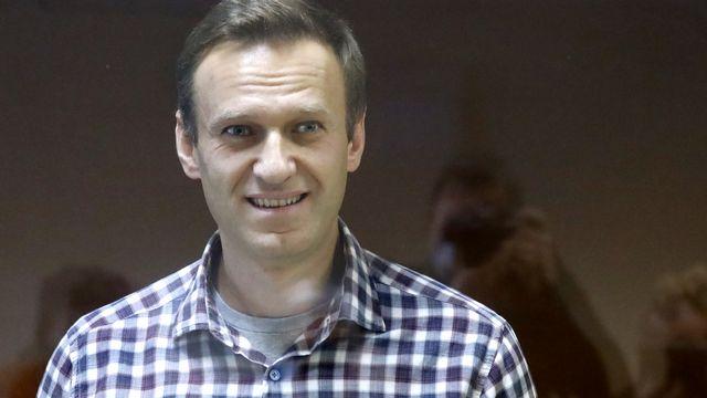 Alexeï Navalny à son audience de samedi à Moscou. [AP Photo/Alexander Zemlianichenko - Keystone]