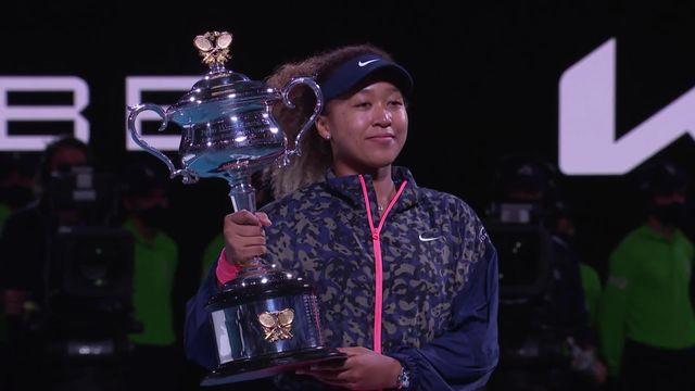 Finale , N. Osaka (JPN) - J. Brady (USA) 6-4, 6-3 : Osaka remporte l'Open d'Australie 2021 ! [RTS]