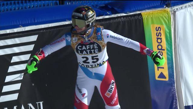 Cortina (ITA), Slalom dames, 2e manche: la course de Camille Rast (SUI) [RTS]