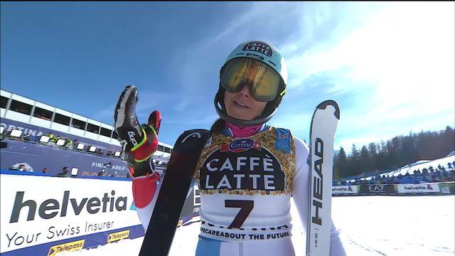 Cortina (ITA), Slalom dames, 2e manche: Wendy Holdener (SUI) termine à la 4e place [RTS]