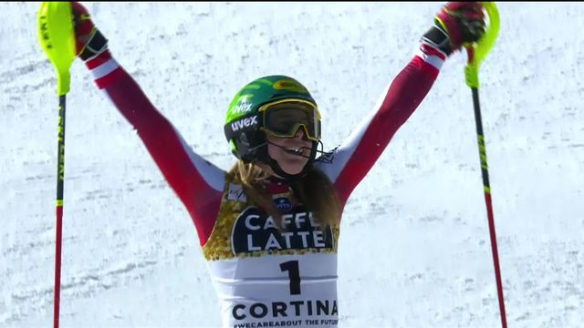Cortina (ITA), Slalom dames, 2e manche: victoire de Liensberger (AUT) ! [RTS]