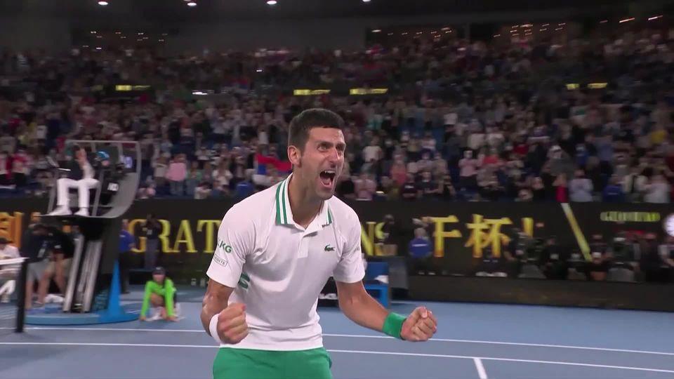 Finale, N. Djokovic (SRB) - D. Medvedev (RUS) (7-5, 6-2, 6-2): le Serbe remporte sa 9e couronne à Melbourne [RTS]