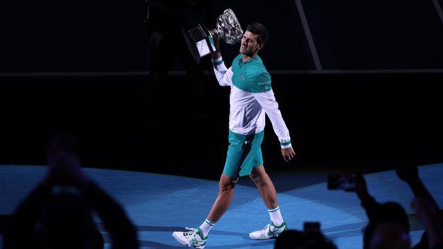 Novak Djokovic a gagné ses 9 finales de l'Open d'Australie. [Loren Elliott]