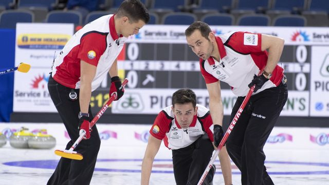 Peter De Cruz et son équipe défendront leur médaille de bronze aux mondiaux de Calgary [Paul Chiasson - Keystone]