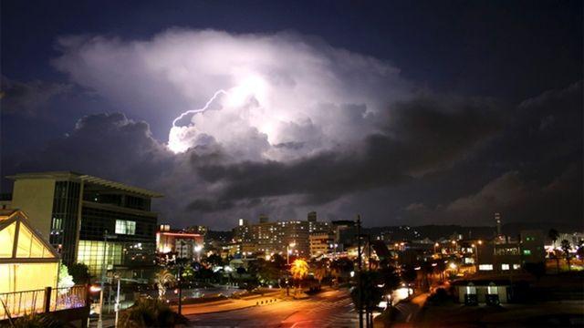 Orage au-dessus de Kagoshima au Japon [Getty]