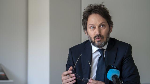Me Grégoire Mangeat, avocat de Pierre Maudet. [Martial Trezzini - Keystone]