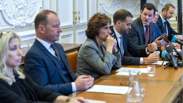 Le Conseil d'Etat genevois lors d'une conférence de presse le 23 janvier 2019. [Martial Trezzini - Keystone]