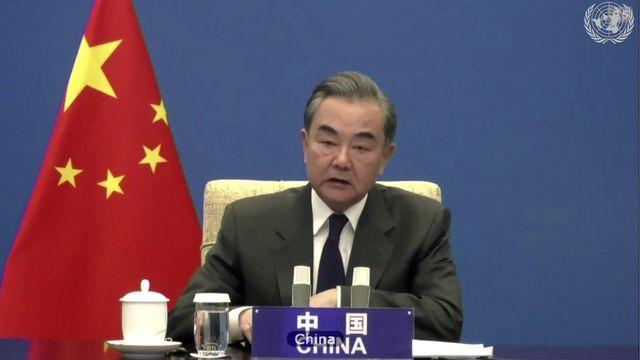 Le ministre chinois des affaires étrangères Wang Yi. [UNTV - Keystone/AP]