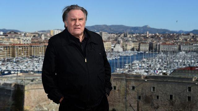 Gérard Depardieu à Marseille en février 2018. [Anne-Christine Poujoulat - AFP]