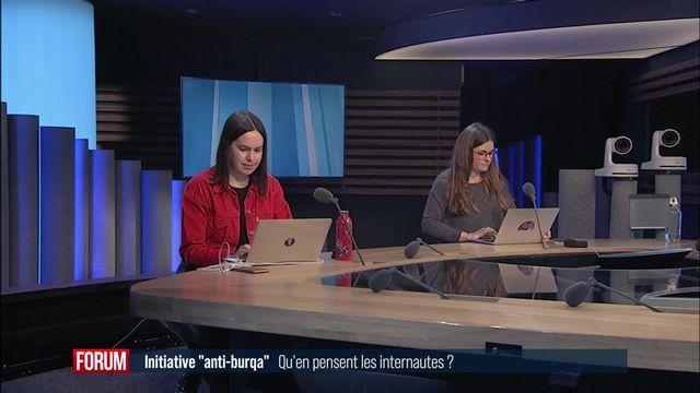 """Quel est l'opinion des internautes sur l'initiative """"anti-burqa""""? (vidéo) [RTS]"""