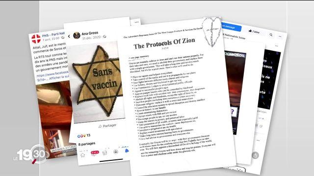 Le complotisme lié au Covid-19 avive l'antisémitisme. [RTS]