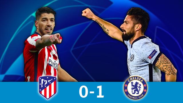 1-8 aller, Atlético - Chelsea (0-1): les Blues en bonne posture grâce à un but magnifique de Giroud !