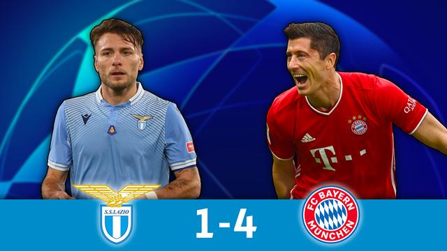 1-8 aller, Lazio - Bayern (1-4): le Bayern en balade à Rome