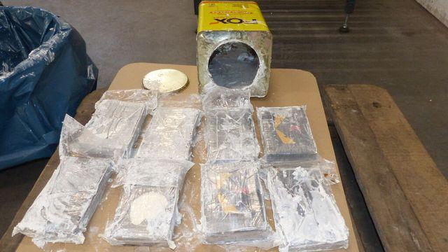 Quelque 23 tonnes de cocaïne ont été découvertes dans des conteneurs des ports allemand de Hambourg et belge d'Anvers: la plus importante saisie jamais effectuée en Europe. [Hamburg Customs Investigation Office - AFP]