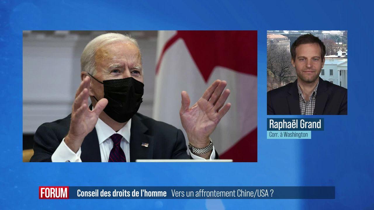 Le Conseil des droits de l'homme pourrait-il devenir le théâtre d'un bras de fer entre la Chine et les Etats-Unis? [RTS]