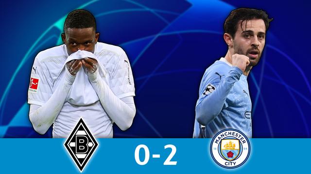 1-8 aller, B.Mönchengladbach - Man.City (0-2): les Cityzens s'imposent sans forcer