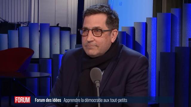 Olivier Delamadeleine, directeur du réseau de crèches Educalis. [RTS]
