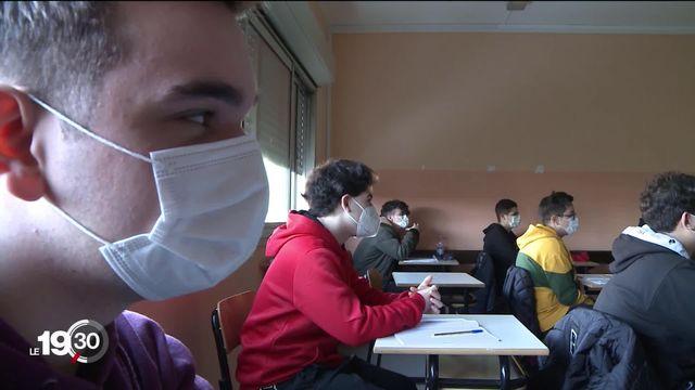 Italie, la pandémie met à terre le système scolaire, réaction du gouvernement [RTS]