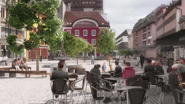 Accord entre la Ville de La Chaux-de-Fonds et le TCS pour la piétonnisation de la place du Marché. [RTS]