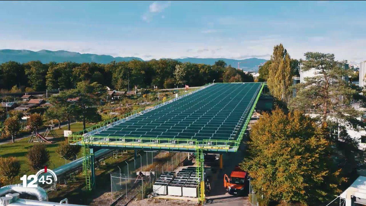 Genève inaugure une centrale solaire thermique [RTS]