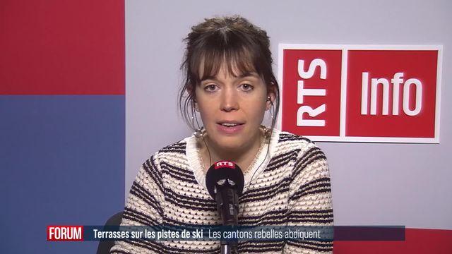 """Les cantons """"rebelles"""" de Suisse centrale ont décidé de fermer les terrasses des pistes de ski (vidéo) [RTS]"""