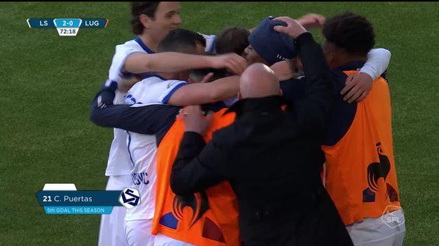 22e journée, Lausanne-Sport - Lugano (2-0): les meilleurs moments de la victoire vaudoise [RTS]