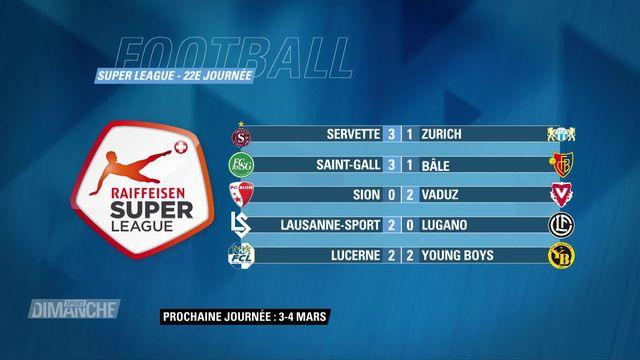 Super League, 22e journée: résultats et classement [RTS]
