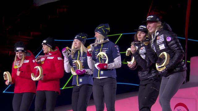 Mondiaux d'Oberstdorf, Team Sprint Dames et Messieurs: cérémonie des médailles [RTS]