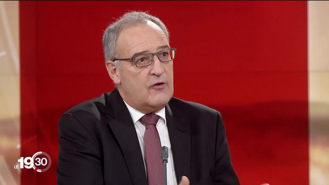 Le Président de la Confédération Guy Parmelin sur le mécontentement suisse face aux mesures anti-covid. [RTS]