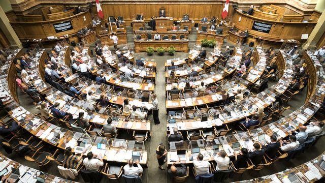 La salle du Conseil national. [Alessandro della Valle - Keystone]